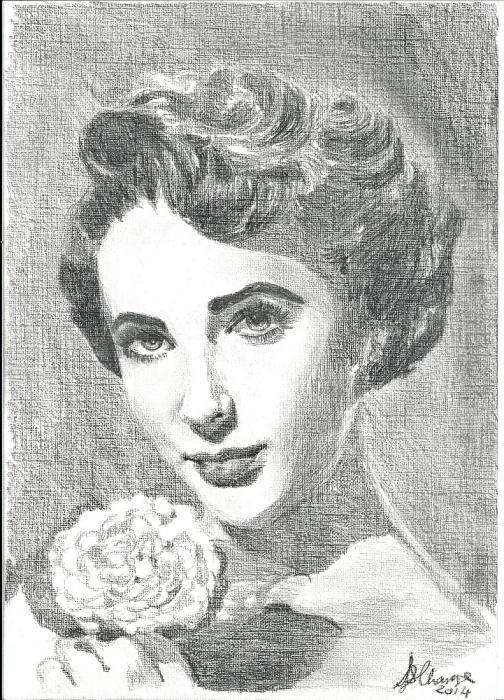 Elizabeth Taylor by Lindasart